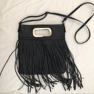 Aldo vegan leather fringe crossbody